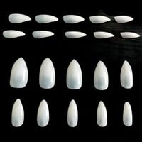 100PCS Full Cover Natural Almond Nails Artificial Nep Nagels Nail Tips Oval Fake Stiletto Nails Tips Unas Postizas JZJ013