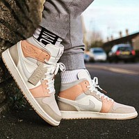 Air Jordan 1 Retro High Premium AJ1 high-top versatile casual sneakers shoes