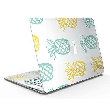 Gold and Mint Pineapple - MacBook Air Skin Kit