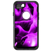 DistinctInk™ OtterBox Defender Series Case for Apple iPhone / Samsung Galaxy / Google Pixel - Violet Flame Fire