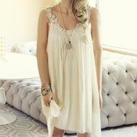 Hibiscus & Lace Dress