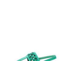 Bamboo Morning 74 Sea Green Knotted Thong Sandals