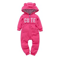 bebes Baby boy Girls Rompers Baby Boy suits kids jumpsuits clothing  Autumn and winter Baby One-pieces Clothes COTTON