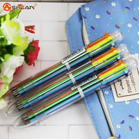 3pcs/Bag 6in1 Ballpoint Pen Multi Color Ball Pen Korean Stationary Marking Pens Office School Supplies