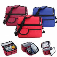 Picnic Lunch Bag Cooler - Assorted Colors