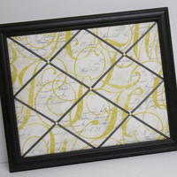 Calligraphy Daffodil Black Framed Memo Board