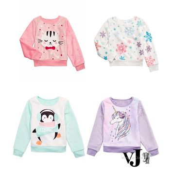 Evy of California Toddler Girls Unicorn Sweatshirt , Various Sizes, Colors