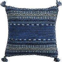 Trenza Throw Pillow Blue, Blue