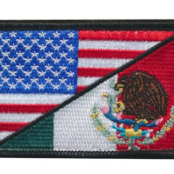 Tactical USA Flag/ Mexico Flag Embroidered Patch