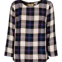 SPLENDID Snowpeak Plaid Camel Black Top im Karo-Look - What's new