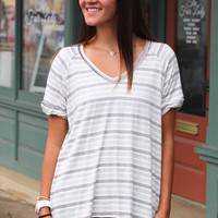 Too Good Stripe Top {Black}