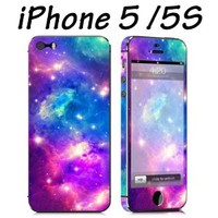 Easygoby Fashionable Nebula Design Full Body Vinyl Decal Sticker Skin For iPhone 5