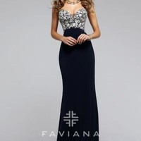 Faviana Jersey Fitted Dress S7715