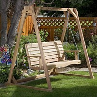 All Things Cedar A-Frame w/ Swing Set