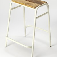 Dawson White Counter Stool