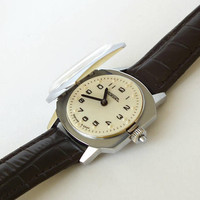 Vintage Braille Dial Watch For Men. Mens Watches. Watch RAKETA 19 Jewels For Blind Person. Mechanical Wrist Watch 70s. Unisex Watch.