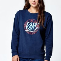 Vans Tiny Ghost Crew Neck Sweatshirt - Womens Hoodie - Blue