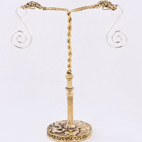 TWIN SNAKE HEADS Bronze Earring - Hanger Organic Holder Display Stand :: Displays :: Painful Pleasures, Inc.