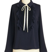ModCloth Mid-length Long Sleeve Belle and Good Top