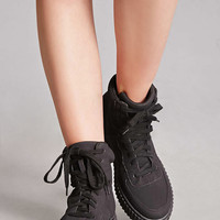 Faux Suede High-Top Sneakers