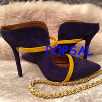 2016 Spring Summer New come women Fashion Pumps woman High-heel Shoes Sweet shoe Ture Leather feminino zapatillas espadrilles