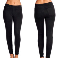 The Suede Jeggings