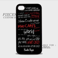 hunter hayes i want crazy quotes Plastic Cases for iPhone 4,4S, iPhone 5,5S, iPhone 5C, iPhone 6, iPhone 6 Plus, iPod 4, iPod 5, Samsung Galaxy Note 3, Galaxy S3, Galaxy S4, Galaxy S5, Galaxy S6, HTC One (M7), HTC One X, BlackBerry Z10 phone case design