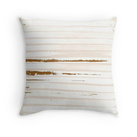 'Brown Earth Lines' Throw Pillow by ANoelleJay