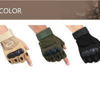 Sport Fitness Gloves Climbing Bicycle Half Finger Workout Lifting Soldier Gloves