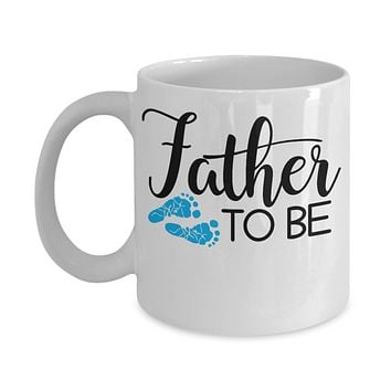 Father to be/coffee mug tea cup gift novelty future dads fathers new dads statement husband