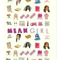 MEAN GIRLS NAIL DECALS