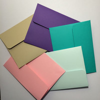 """3.5x5"""" envelopes with cards - any color (10)"""