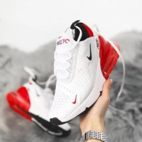 Red White Nike Air Max 270 Running Sports Shoes Sneakers