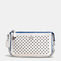 Nolita Wristlet 19 in Perforated Leather