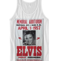 ELVIS VINTAGE POSTER TANK TOP CLASSIC ELVIS SHIRTS ELVIS VIDEO BIRTHDAY GIFTS CHEAP SHIRTS TREND FASHIONS CELEBRITY SHIRTS GRAPHIC TEES CHEAP SHIRTS