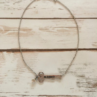 Blessed in Silver Key Necklace