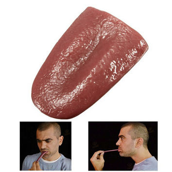 Halloween Horrible Tongue Prank Toy Magic Tricks Joke Toy Realistic Tongue Halloween decoration Supplies Shocker Fun Dress Up
