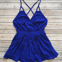 Summer Nights Romper (Royal)