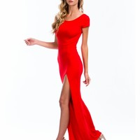 Basic Single Slit Maxi Dress - GoJane.com