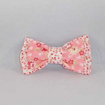 Pretty Pink Floral Hairbow With Choice of Stretch Band Or Clip