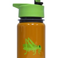 Eco Vessel Scout Kids Discontinued 2014 Stainless Steel Water Bottle with Flip Straw (13-Ounce, Orange with Grasshopper)