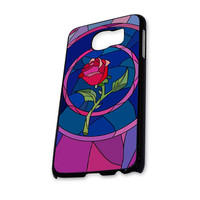Beauty and Beast rose glass Custom JDC089 Samsung Galaxy S6 Case
