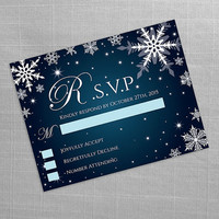 DIY Printable Wedding RSVP Template | Editable MS Word file | 5.5 x 4.25 | Instant Download | Winter White Snowflakes Dark Turquoise
