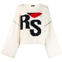 Ladies Off White Knit Sweater by RAF SIMONS