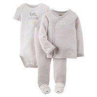 Newborn Just One You™ Made By Carter's® 3-Piece Footie Set - Gray : Target