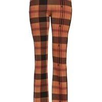 CHECK FLARED TROUSERS – New Girl Order