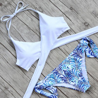 Coconut Tree Bikini Set Womens Summer Swimsuite Swimwear