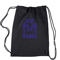 Black Mamba Rest In Peace Drawstring Backpack