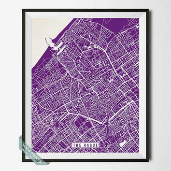 The Hague Print, Netherlands Poster, The Hague Poster, The Hague Map, Netherlands Print, Street Map, Netherlands Map, Wall Art