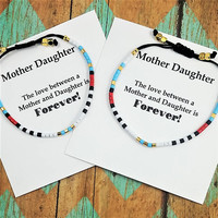 Set of Two Mother Daughter Bracelets | Matching Bracelets | Gift for Daughter | Gift for Mom | Mother Daughter Jewelry | Gift for Her